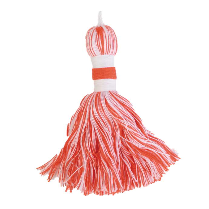 Orange & Natural Tassel