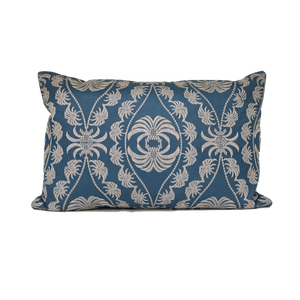 Palm Paisley Leather Cushion