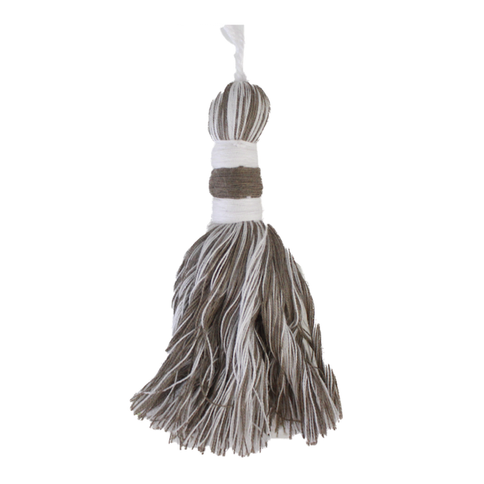 Taupe & Natural Tassel