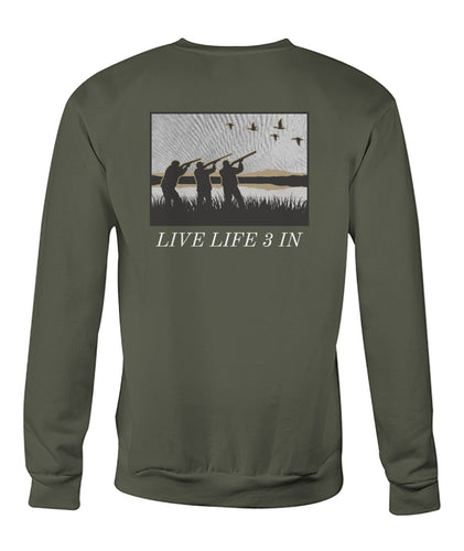 Live Life 3 In Duck Edition Sweatshirt