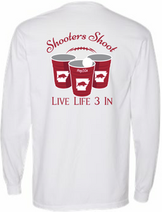 Hogs3In Shooters Shoot Long Sleeve Pocket Tee