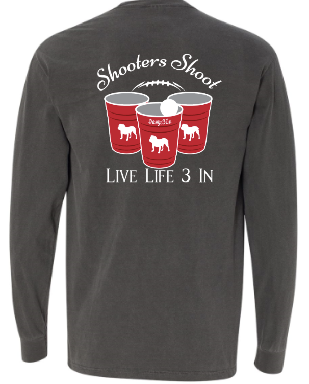 Dawgs3In Shooters Shoot Long Sleeve Pocket Tee
