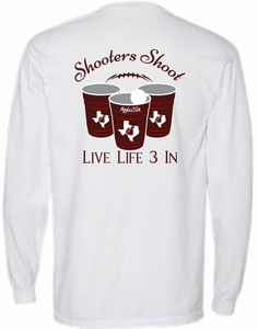 Aggies3In Shooters Shoot Long Sleeve Pocket Tee