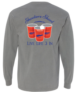Gators3In Shooters Shoot Long Sleeve Pocket Tee