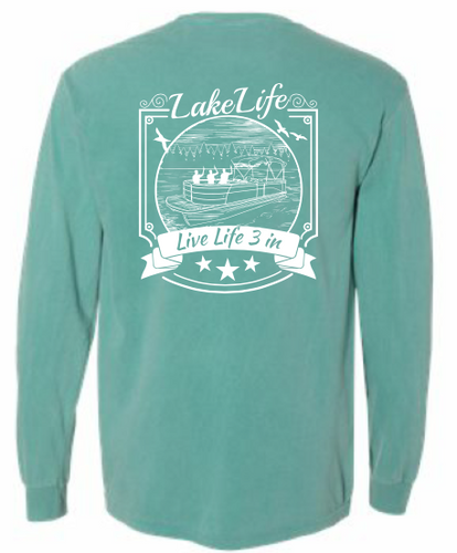 Lake Life Long Sleeve Pocket Tee