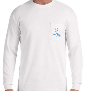 Tailgate SZN Blue Long Sleeve Pocket Tee