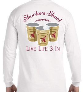 Noles3In Shooters Shoot Long Sleeve Pocket Tee