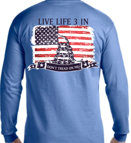 Don't Tread On Me Long Sleeve Pocket Tee