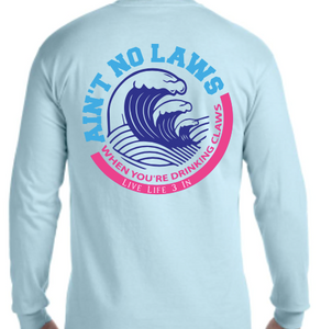 White Claw Long Sleeve Pocket Tee