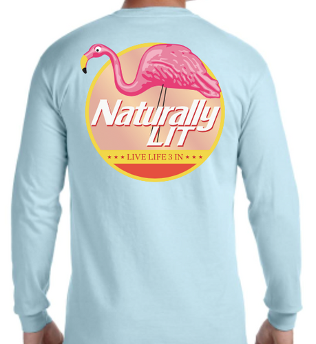 Naturally Lit Long Sleeve Pocket Tee