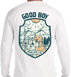 Good Boy Long Sleeve Pocket Tee