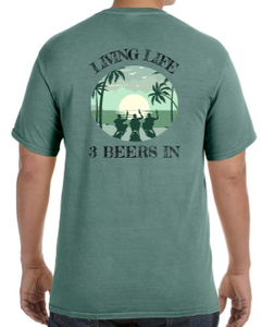 LiveLife3In Comfort Colors Beachin' Short-sleeve