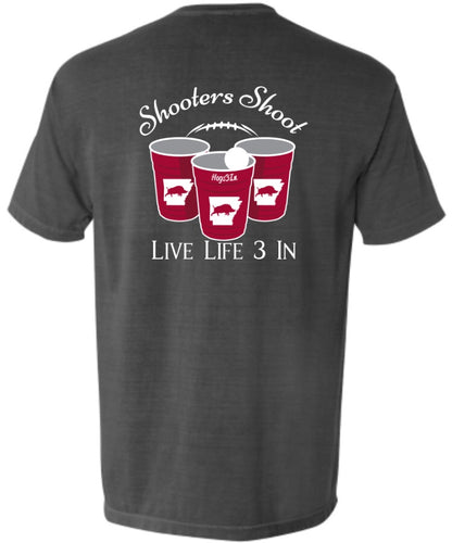 Hogs3In Shooters Shoot Pocket Tee