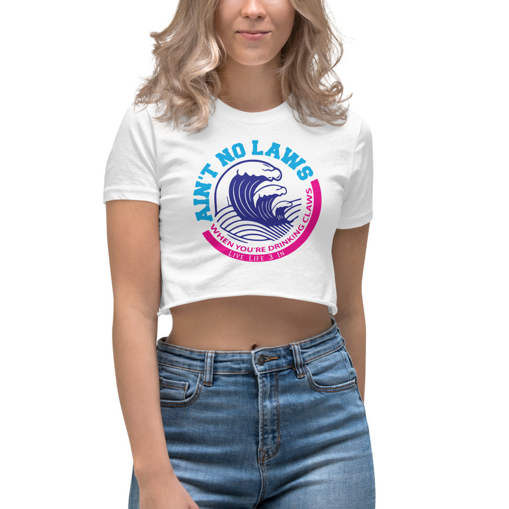 No Laws Drinking Claws Women's Crop Top