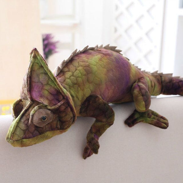 Purple Green Chameleon Stuffed Animal Friends