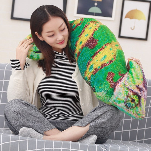 Large Veiled Chameleon Pillow Stuffed Animal