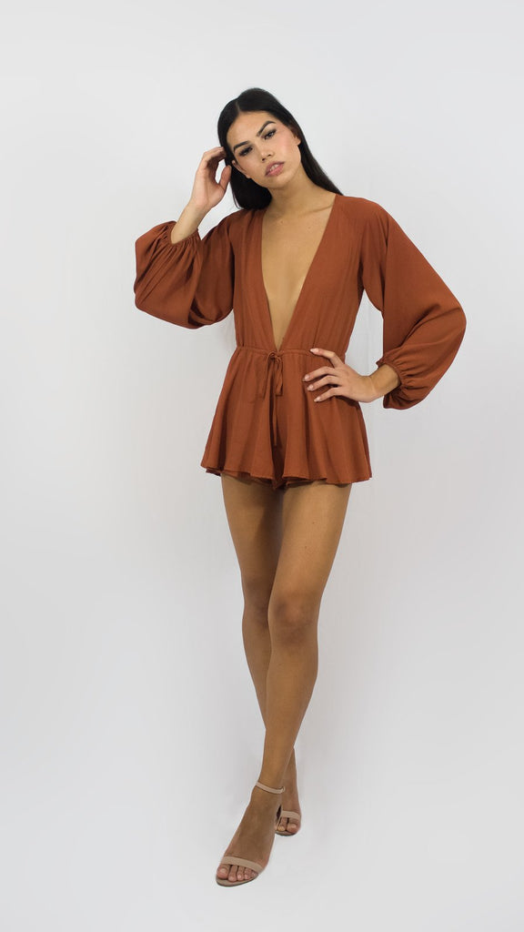 Rusted Flowing Playsuit