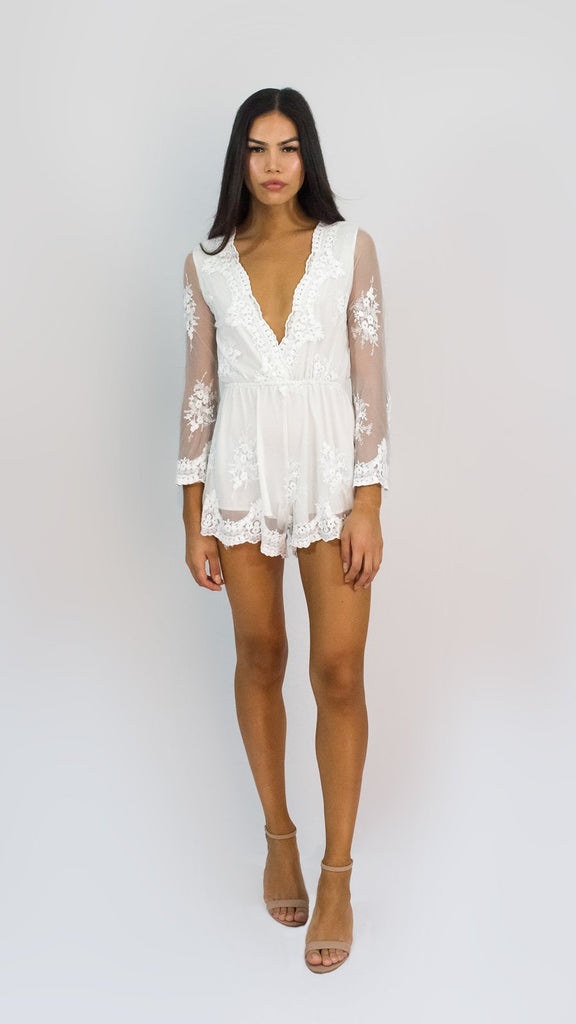 Lace Overlaid Playsuit