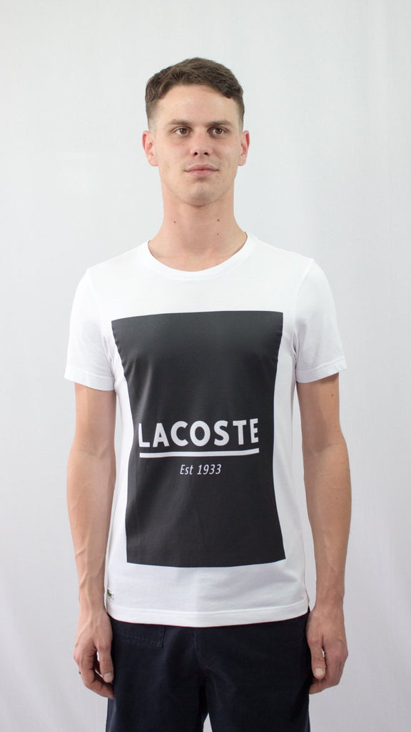 White Lacoste T-Shirt