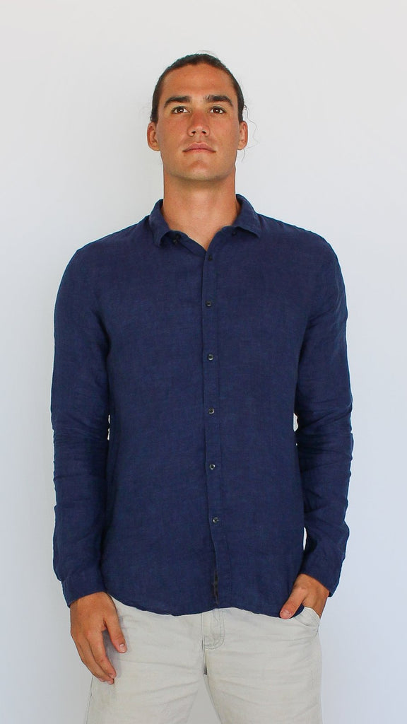 Linen Button Down
