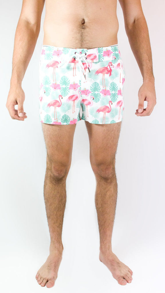 Tropical Print Swim Trunks