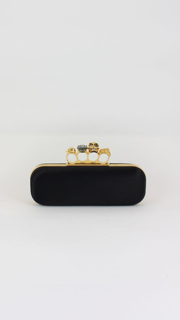 Knuckleduster Satin Box Clutch