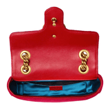 GG Marmont Velvet Bag in Red
