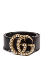 GG Pearl Belt in Black
