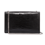 Medium Croc Embossed Kate Chain Bag