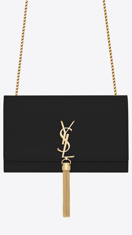 Medium Kate Tassel Chain Bag in Black