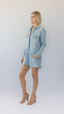 Full Sleeved Relaxed Denim Playsuit