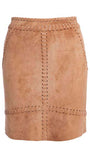 Hazel Suede Mini Skirt in Whiskey