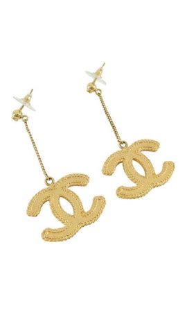 Chanel CC Drop Earrings