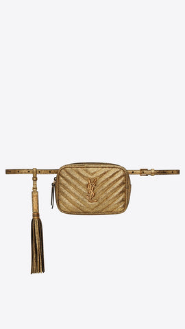 Lou Belt Bag in Crinkled Metallic Leather