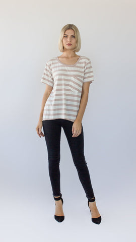 Striped & Pocketed Tee