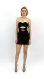Strapless Cutout Dress