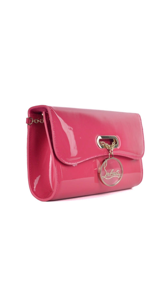 Riviera Clutch Rouge Lipstick Pink Patent Bag