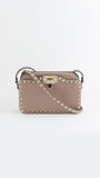 Rockstud Shoulder Bag in Poudre