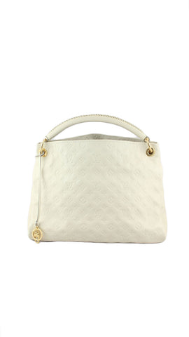 Artsy MM Empreinte Leather Handbag in Neige