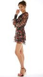 Wild Bloom LS Mini Dress