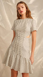 Even Love Short Sleeve Dress in Ivory