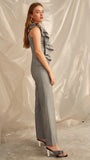 You or Me Jumpsuit in Grey Marle