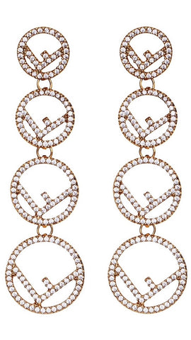 F is Fendi Pendant Earrings