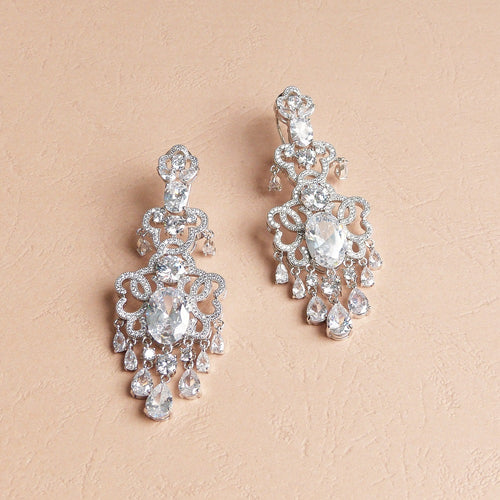 Alexa Simulated Diamond Earrings - Rachel Rosh Malaysia