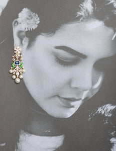 Amira CZ and Pearl Earrings