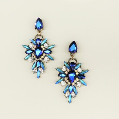[Sample Sale] Isabella Blue Statement Earrings - Rachel Rosh Malaysia
