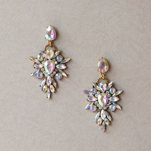 Isabella Crystal AB Statement Earrings