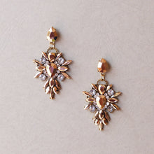 Load image into Gallery viewer, Isabella Rose Gold Statement Earrings