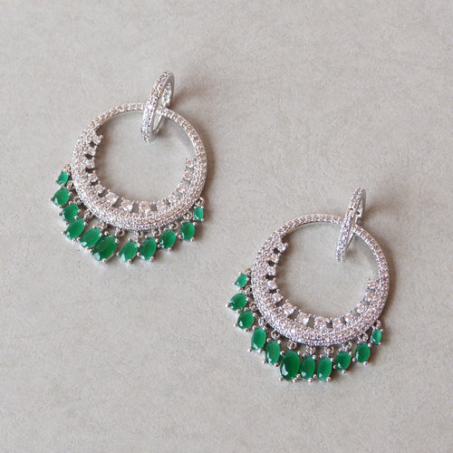 Jada Simulated Diamond Earrings - Rachel Rosh Malaysia