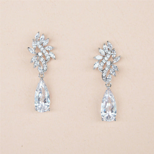 Belle CZ Bridal Earrings- Rachel Rosh
